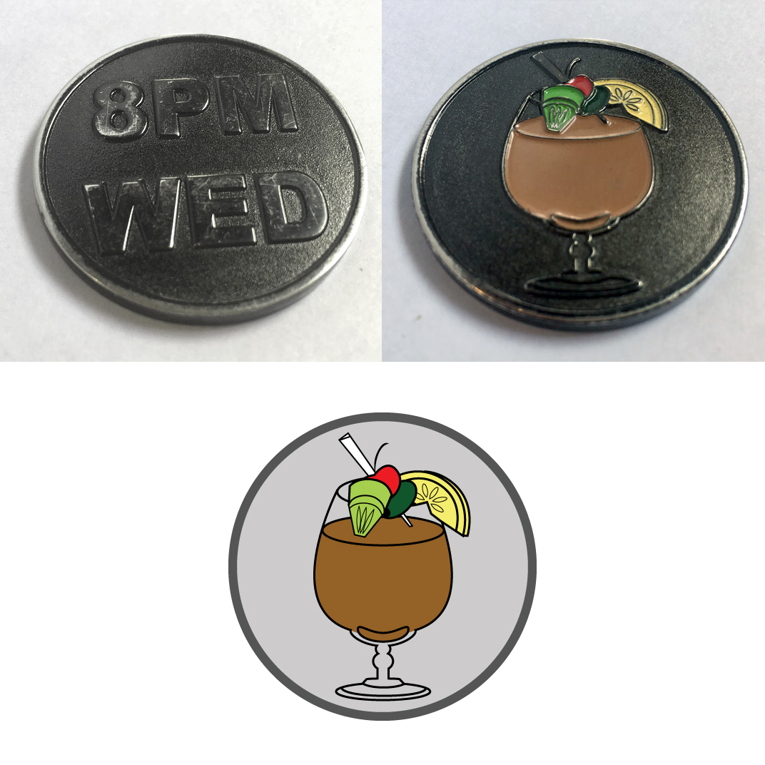 Hacker Drinkup Challenge Coin